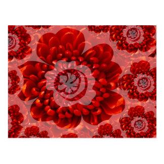 Red Flower Journey - Fantasy Worship World Postcard