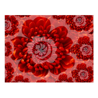 Red Flower Journey - Fantasy Worship World Postcard