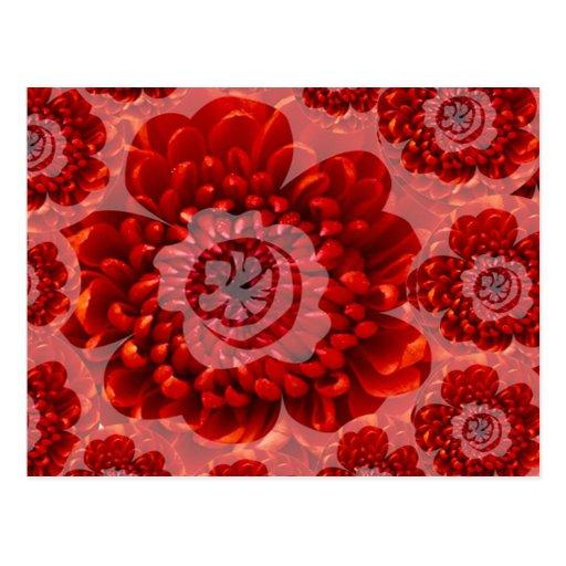 Red Flower Journey - Fantasy Worship World Post Card