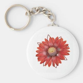 Red Flower JPEG Keychain
