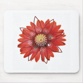 Red Flower JPEG Mouse Pads