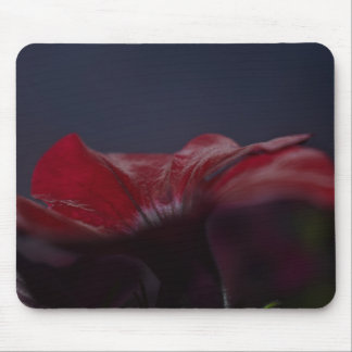 red flower mouse pad