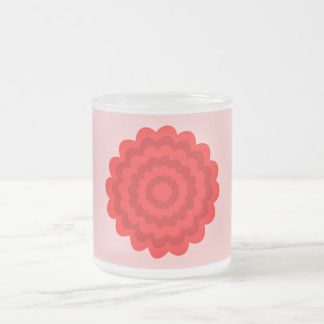 Red Flower On Pretty Pink. Mugs