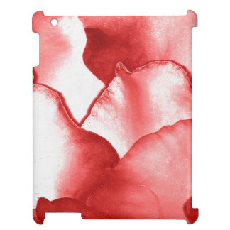 Red Flower Petals iPad Covers