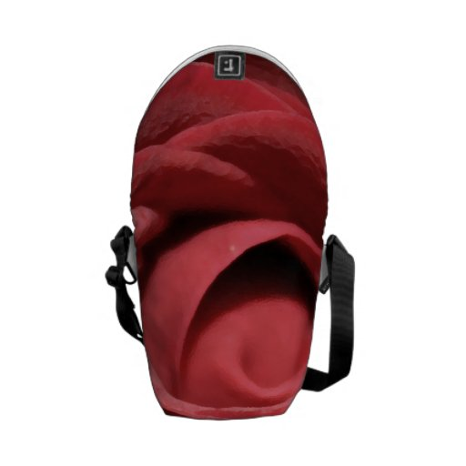 Red Flower pic Courier Bags