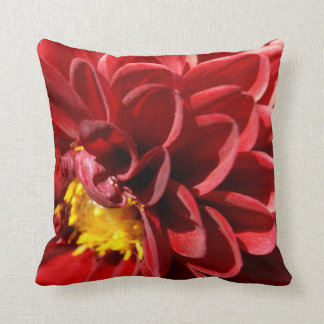 Red Flower Pillow Throw Cushions