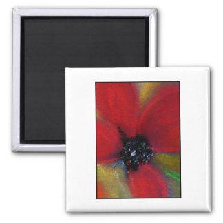 Red Flower Poppy Refrigerator Magnet