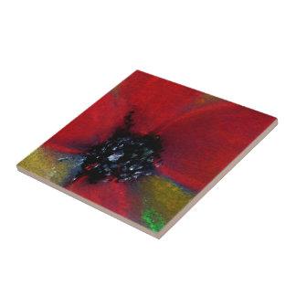 Red Flower, Poppy. Tile