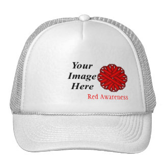 Red Flower Ribbon Template by Kenneth Yoncich Cap