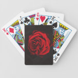 Red Flower, Rose deck of playing cards , games Bicycle Playing Cards