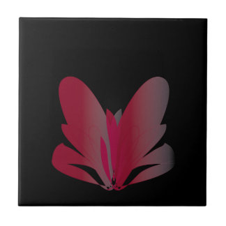 Red Flower Small Square Tile