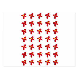 Red Flower Splash Postcard