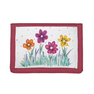 Red Flower Wallet