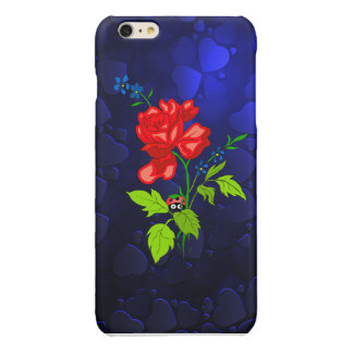 Red flower with Hearts iPhone 6 Plus Case