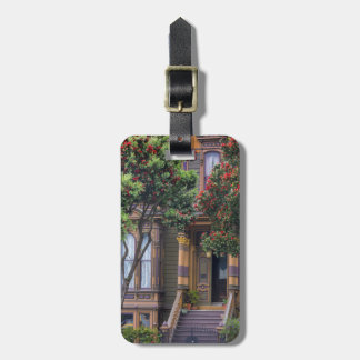 Red Flowering Gum Tree Frames Victorian Style Luggage Tag