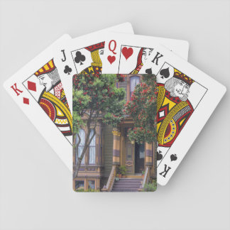 Red Flowering Gum Tree Frames Victorian Style Playing Cards