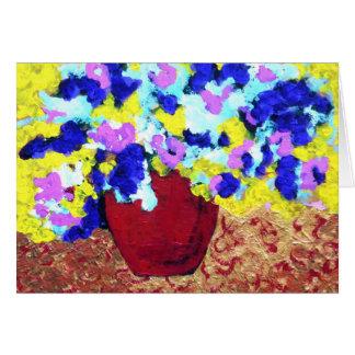 Red Flowerpot Greeting Card