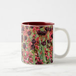 Red Flowers and dark tulips Coffee Mugs