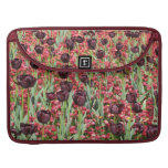 Red Flowers and dark tulips Sleeve For MacBooks