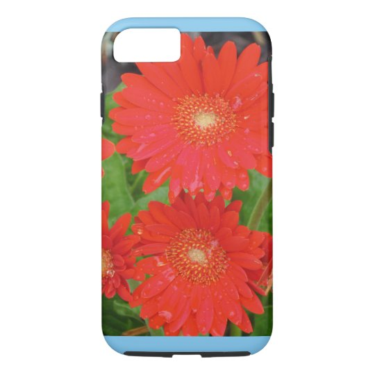 Red Flowers Apple iPhone Case