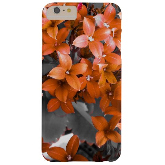 Red flowers barely there iPhone 6 plus case