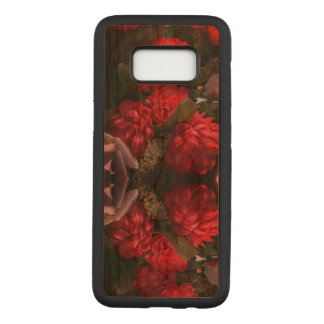 Red Flowers Bouquet Samsung Galaxy S8 Wood Case