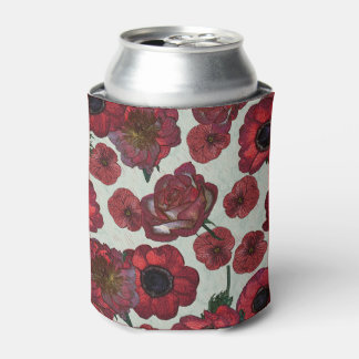 Red flowers Can Cooler