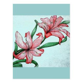 Red flowers ELD Design Postcard