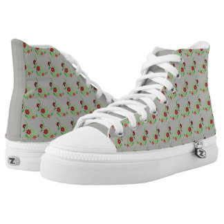 Red Flowers High Tops