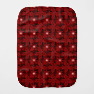 Red Flowers in 3D , Artdeco Burp Cloth