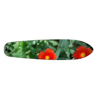 Red Flowers in Greenery - Wonderful Nature 21.6 Cm Skateboard Deck