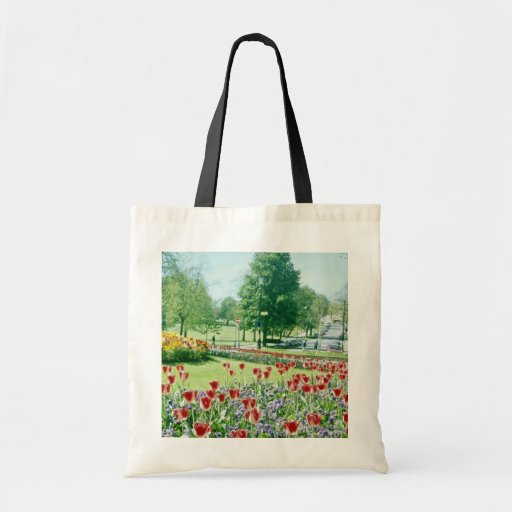 Red Flowers in Valley Gardens, Harrogate, England Bag