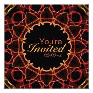 Red Flowers Invites