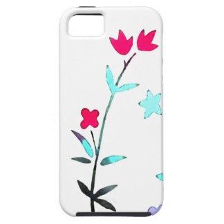 Red Flowers Japanese Kimono Art iPhone 5 Case