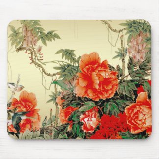 Red Flowers Mouse Mat