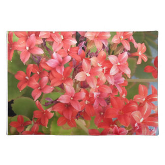 Red flowers placemat
