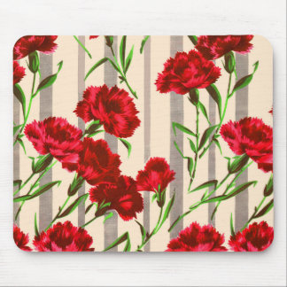 red flowers print mouse mat