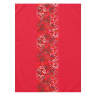 Red Flowers Tablecloth