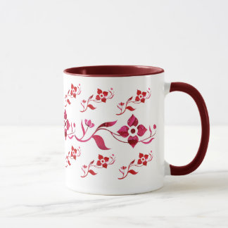 Red Flowers & Vine Mug