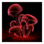 Red Fluorescence (Square) Poster
