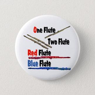 Red Flute Blue Flute 6 Cm Round Badge