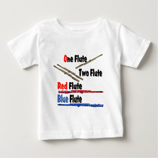 Red Flute Blue Flute Baby T-Shirt
