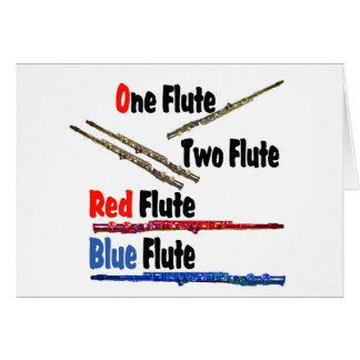 Red Flute Blue Flute Card