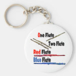 Red Flute Blue Flute Key Chain