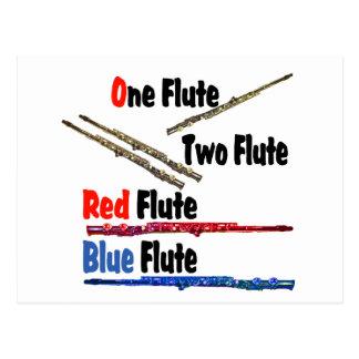 Red Flute Blue Flute Postcard