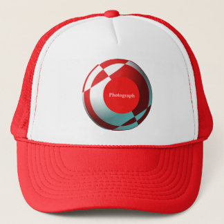 Red Football (add your photograph) Trucker Hat