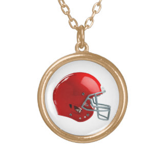 Red Football Helmet Necklace