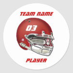 Red Football Helmet Sticker