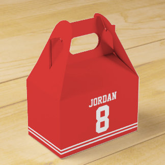 Red Football Jersey - Sports Theme Birthday Party Favour Box