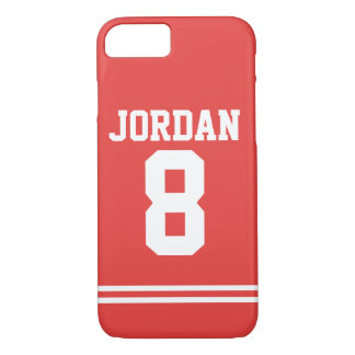 Red Football Jersey with Number iPhone 8/7 Case